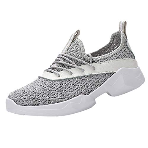 or Mesh Lace-Up Sports Shoes Trainers Athletic Casual Running Breathable Sneakers ()