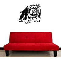 GGWW Wall Stickers Vinyl Decal Barking Dog Collar Animal Guard Bulldog (I322)
