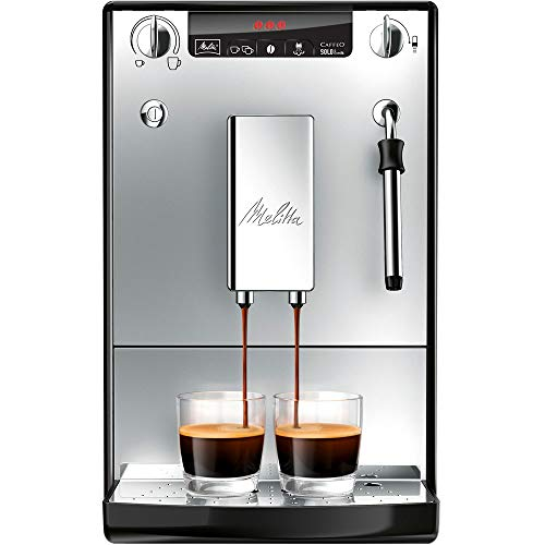 Melitta SOLO & Milk E953-102, Bean to Cup Coffee Machine, with Milk Steamer, Silver thumbnail