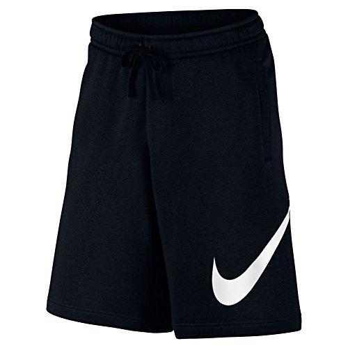 Nike M NSW Short FLC EXP Club, Shorts Schwarz / Weiß