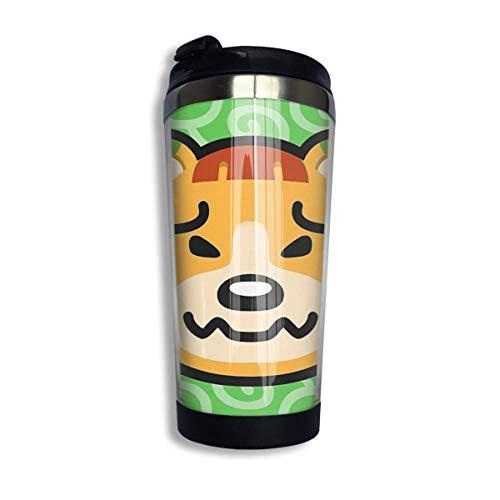 Pudge Animal Crossing Edelstahl Vakuumisolierter Becher 13,5 Unzen Kaffeetasse Reisebecher