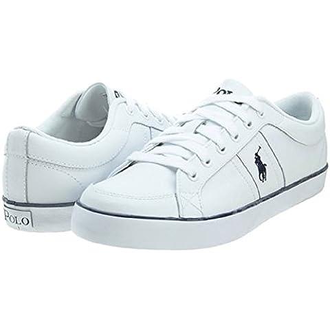 Ralph Lauren - Zapatillas de Piel para hombre Blanco blanco 43