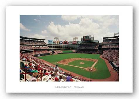 Rangers Ballpark In Arlington (Rangers Ballpark in Arlington, Texas Rangers von Ira Rosen Kunstdruck)