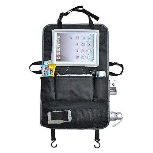 Kinder-halter (AutoRücksitz Organiser ,Auto-Rückenlehnenschutz, Kick-Matten-Schutz für den Autositz mit extra großen iPad-Tablet-Halter,kinder Auto organizer mit Tablet-Fach)