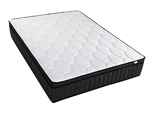 Matelas Mémoire de Forme 140x190 Memo Royal Hbedding - Technologies combinées Visco + Latex + Mousse HD