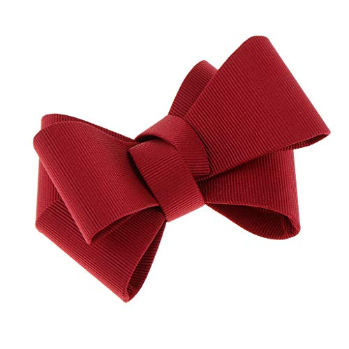 B baosity tacco alto a farfalla con fiocco comodo accessorio decorazione per scarpe donna - rosso, 8 centimetri