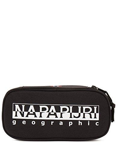 Napapijri happy pen organizer astuccio, 22 cm, nero (black), poliestere