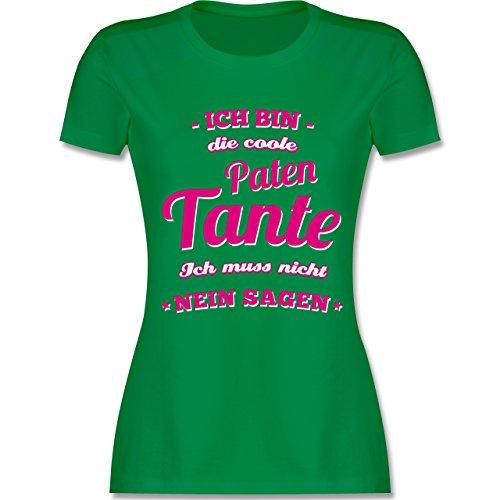 Shirtracer Schwester & Tante - Ich Bin Die Coole Patentante - Damen T-Shirt Rundhals Grün