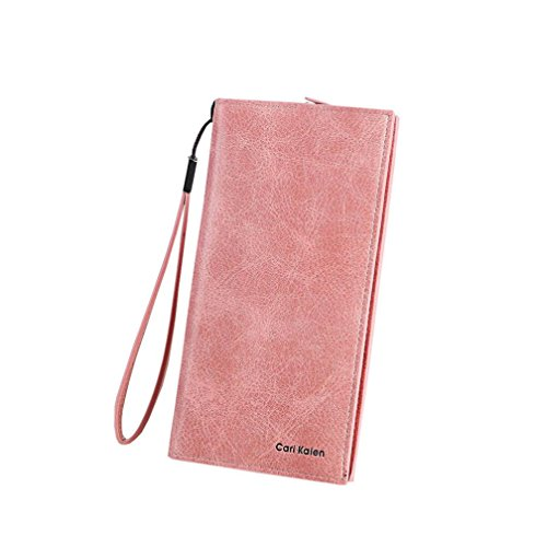 Portafoglio Donna, Tpulling Portafogli donna Hasp Portafogli donna Portafogli Borse a mano borsa design frizione (Green) Pink