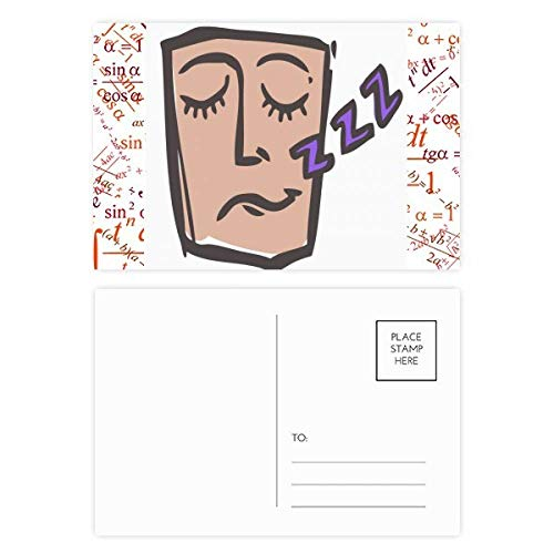 DIYthinker Schlaf Abstraktes Gesichts-Skizze Emoji Formel Postkartenset dankt Karte Mailing Side 20pcs 5.7 Zoll x 3.8 Zoll Mehrfarbig