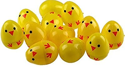 Set Of 24 Chick Plastic Surprise Eggs - Fill With Easter Hunt Gifts