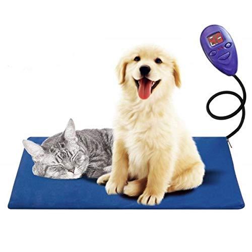 YUNDUO Haustier Heizkissen, Wasserdicht Anti Biss Cord Mit Variabler Heat Control Heizkissen, Für Hunde Und Katzen Innen Erwärmen, Blau -