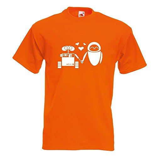 KIWISTAR - Computerliebe T-Shirt in 15 verschiedenen Farben - Herren Funshirt bedruckt Design Sprüche Spruch Motive Oberteil Baumwolle Print Größe S M L XL XXL Orange