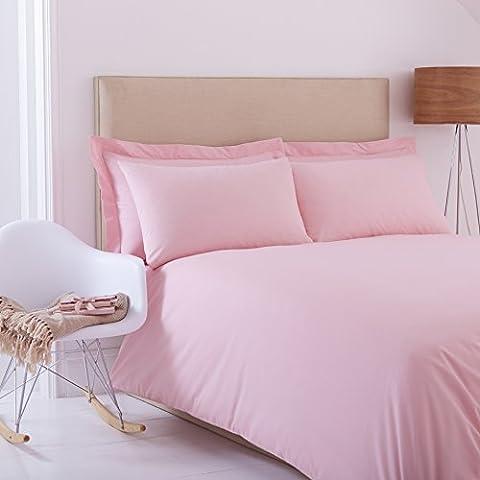 Charlotte Thomas-Percale Plain Dye-Parure de lit - 2 personnes-Rose