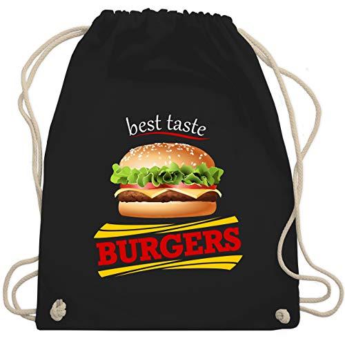 Burger Schwarze Kostüm - Karneval & Fasching - Burger Kostüm - Unisize - Schwarz - WM110 - Turnbeutel & Gym Bag