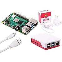 Raspberry Pi 4 Computer ESSENTIALS KIT (White, 2GB RAM)