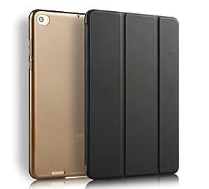 MOCA Ultra Thin Auto-Wake,Sleep Smart Stand Folio Flip Cover Case for Xiaomi Mi Pad 2 / Mi-Pad 3 (Black)