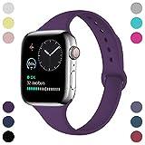 Hamile Armband Kompatibel für Apple Watch 42mm 44mm, Schmales Weiche Silikon Wasserdicht Ersatz...