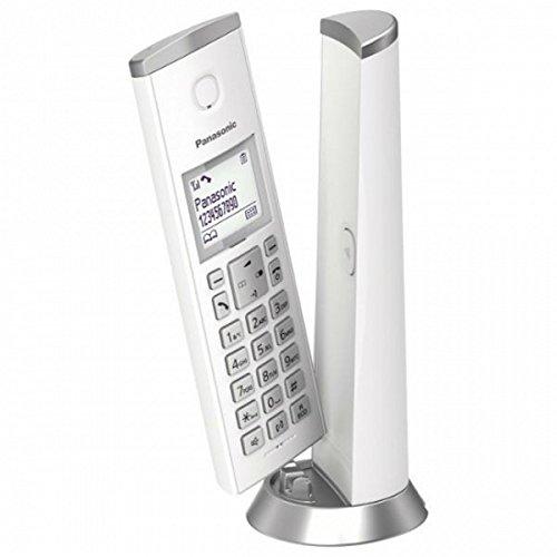 Panasonic KX-TGK210SPW - Teléfono inalámbrico Digital (LCD, identificador de Llamadas, Sistema de Sonido Personalizado, Altavoz Manos Libres) Color Blanco