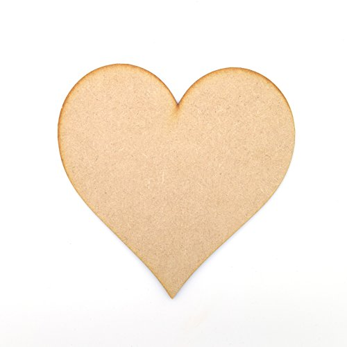 3cm MDF Hearts Wooden Cut Out Craft Shape, Embellishments (3cm / 30mm) - Pack of 25