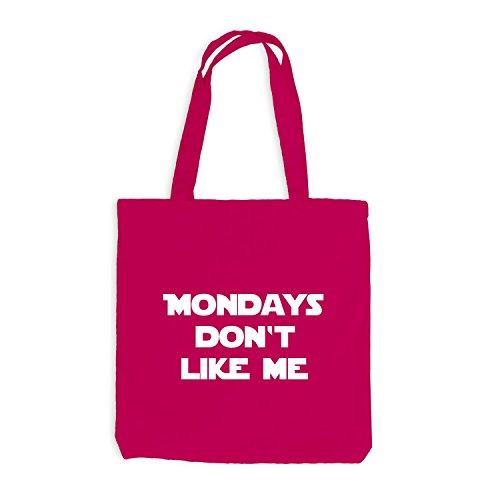 Iuta sacchetto–Mondays Don' t Like Me–Lunedì Fun Work Pink