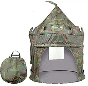 Puregadgets© 2015 British Army Pop Up Children's Tent with Windows and Roll Up Door Boys Indoor or Outdoor Use Boy Toy Play Tent / Playhouse / Den