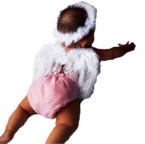 Baby Kostüm Amor - Rcdxing Baby Kinder Engelsflügel Engelsflügel Fee Flügel Kostüm Foto Requisiten Amor Anzüge Weiß