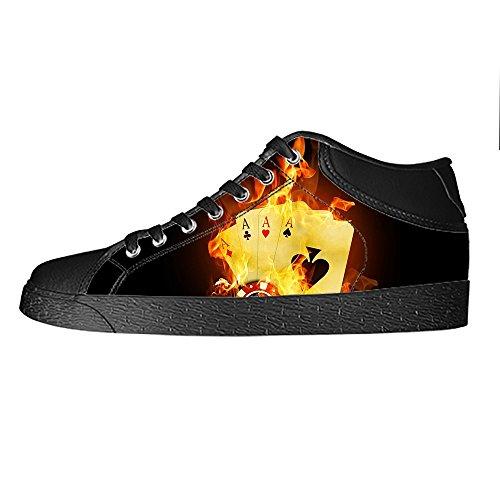 Dalliy Fuoco Fuoco Men s Canvas Shoes Scarpe Lace Up High Top Sneakers a Vela Panno Scarpe Scarpe di Tela Sneakers d