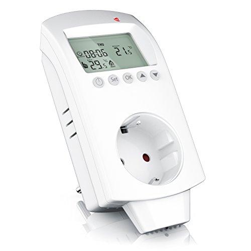 CSL - Thermostat digital | Steckdosen Thermostat für Heizgeräte Infrarotheizungen Klimageräte | Anti-Frost-Modus Frostschutz | Weiß
