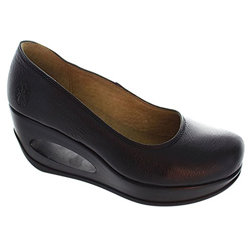 Size 5 Fly London Women's Hubo Leather Court Shoes