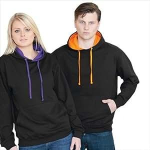 Just Hoods - Varsity Hoodie - 2-farbiger Kapuzenpullover XXL,French Navy/Heather Grey