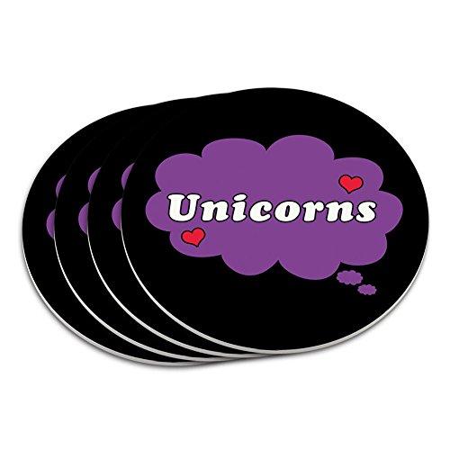 Dreaming-de-licornes-Violet-Lot-de-4-dessous-de-verre