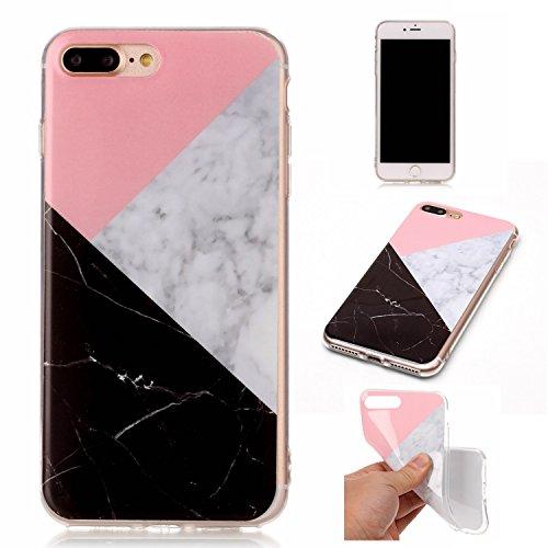 JIALUN-Telefon Fall Für Apple IPhone 7 Plus Fall Imitation Marmor Muster Mode Rückseite Cover Telefon Shell ( Color : Q ) H
