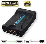HDMI zu Scart-Konverter, Adapter 1080P HDMI Eingang auf Scart-Ausgang, Adapter für Sky Blu-Ray Player HDTV Xbox DVD