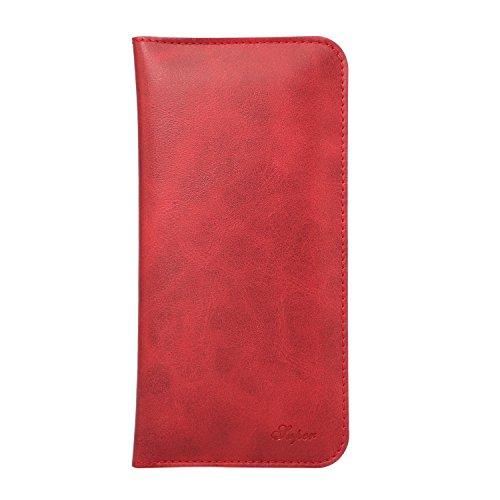 Aomo iPhone 6 / 6S iPhone 7 (4,7 pouces) Case Wallet Case Cover Case Universal Phone haut de gamme de protection raffinée pour Apple iPhone 6 / 6S iPhone 7 avec emplacements pour les cartes-gris Red