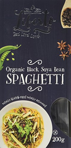 Liberto Organic Blackbean Spaghetti 200 g (Pack of 6)