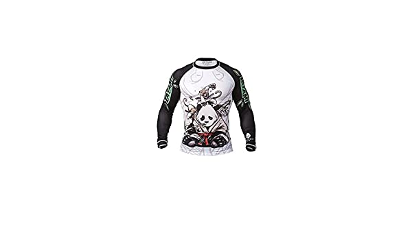 Tatami Fightwear Herren Sanfter Panda Rashguard Wei/ß