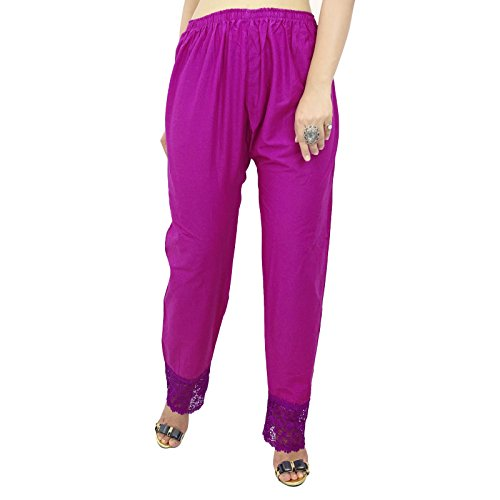 Femmes Hippie Baggy Yoga Sarouel Aladdin Harem Pantalons Pourpre-2