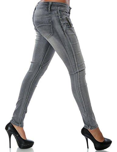 Damen Chino Boyfriend Jeans Hose No 14039 Schwarz