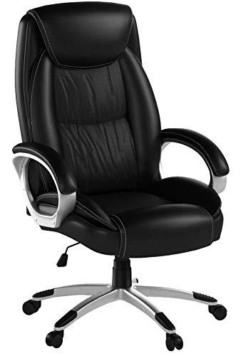 IntimaTe WM Heart Chefsessel, Bürostuhl mit Hoher Rückenlehne, Kunstleder Schreibtischstuhl high Back Drehstuhl mit Armlehnen