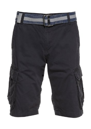s.Oliver - Pantaloni corti, uomo Grigio (Grau (black grey))
