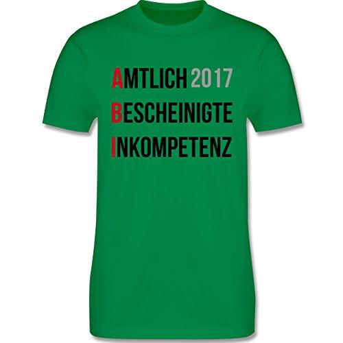Abi & Abschluss - ABI 2017 - Amtlich Bescheinigte Inkompetenz - Herren Premium T-Shirt Grün