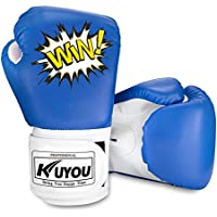 Kuyou Kids Boxing Gloves 4oz Children Cartoon Sparring Boxing Gloves Training Mitts Junior Punch PU Leather Age 3-12 Years