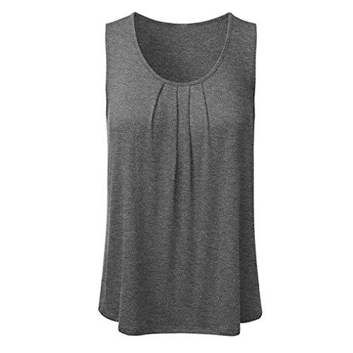 Neck Lose Tank Tops Frühling Sommer Fest Frauen Ärmellos Plissee Scoop Bluse T Shirt Freizeit Pullis Oberteile Tees (Zombie Pin Up Kostüm)