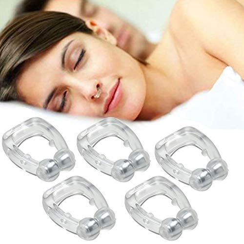 Kapmore 5 STÜCKE Anti Schnarchen Nasenklammer Kreative Silikon Schnarchen Gerät Schlafzubehör