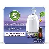 Air Wick Aroma-Öl Diffuser - Starter Set mit Diffuser und Duft-Flakon - Batteriebetrieben - Duft: Entspannender Lavendel - 1 x 20 ml ätherisches Öl + Diffuser in weiß
