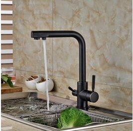 tougmoo nuovo nero o oro acqua pura cucina rubinetto 3vie doppia funzione per cucina rubinetto (Valvola A 3 Spool)