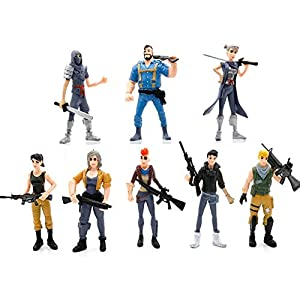 Fernando Feliz8 Pcs Figuras Fortnite,Anime Cartoon Fortnite PVC Figura de Acción Juguetes Juego Personajes Muñecas de Regalo 2