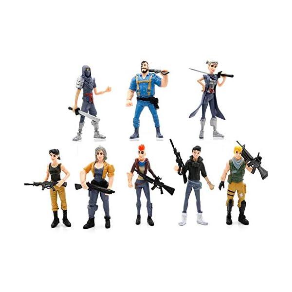 Fernando Feliz8 Pcs Figuras Fortnite,Anime Cartoon Fortnite PVC Figura de Acción Juguetes Juego Personajes Muñecas de… 1