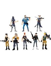 Fernando Feliz8 Pcs Figuras Fortnite,Anime Cartoon Fortnite PVC Figura de Acción Juguetes Juego Personajes